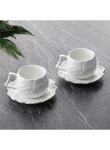 Tohana Tohana THN10912 2'li Dokulu Porselen Kahve Fincanı Takımı Renkli